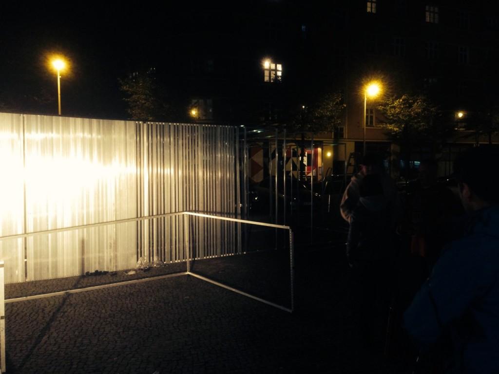Aufbaustart am 15.10., Fotos: Malte Obenauf